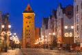 Old town of elblag at night in poland Stock Photos