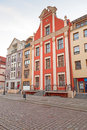 Old town in elblag poland architecture of Stock Images
