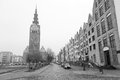 Old town of elblag poland in black and white Royalty Free Stock Photography