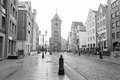 Old town of elblag poland in black and white Royalty Free Stock Photos