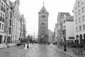 Old town of elblag poland in black and white Stock Images