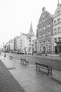 Old town of elblag poland in black and white Stock Photography