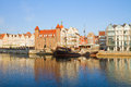Old town embankment gdansk poland Royalty Free Stock Photography