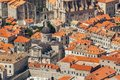 Old town in Europe on coast of Adriatic Sea. Dubrovnik. Croatia. Royalty Free Stock Photo