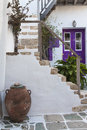 Old town in folegandros cyclades islands Stock Photos