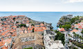 Old Town and Fort Lovrijenac in Dubrovnik, Croatia Royalty Free Stock Photo
