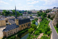 Old town and Fortifications in the City of Luxembourg Royalty Free Stock Image
