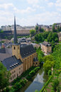 Old town and Fortifications in the City of Luxembourg Royalty Free Stock Photos