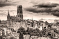 Old town Fribourg, Switzerland vintage look Stock Image