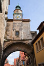 Old town gate famous medieval town rothenburg ob der tauber germany Stock Photo