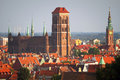 Old town of Gdansk with historic buildings Stock Image