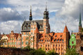 Old town of gdansk in poland skyline Royalty Free Stock Photography