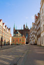 Old town of gdansk poland with st mary s church Royalty Free Stock Photo