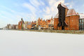 Old town in Gdansk at winter Royalty Free Stock Image