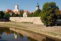 Old town gyã r hungary bishop s castle Royalty Free Stock Photo