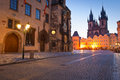 Old Town Hall, Church of our Lady Tyn, Prague Royalty Free Stock Photo