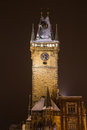 Old Town Hall Clock Tower in Prague Royalty Free Stock Photo
