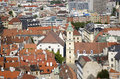 The old town hall and jesuit church in bratislava slovakia top view of with roofs of Stock Photos