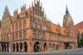 Old town hall and marktkirche hannover lower saxony germany Royalty Free Stock Photo