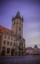 The Old Town Hall in Prague at dawn Royalty Free Stock Photo