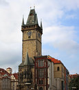 Old town hall tower in prague Royalty Free Stock Photo