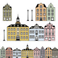 Old town houses Royalty Free Stock Images