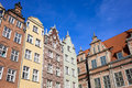 Old Town Houses in Gdansk Stock Images