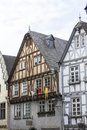 Old town houses in limburg at the lahn Stock Photo