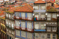 Old town houses porto portugal in down of Stock Photo