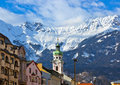 Old town in innsbruck austria architecture background Royalty Free Stock Images