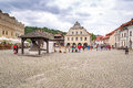 Old town of kazimierz dolny in poland unidentified people walking on the at vistula river on july this is an art center Stock Photography