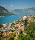 Old town in kotor mountains Stock Images