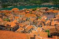 Old town of kotor roof tops the Royalty Free Stock Image