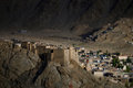 Old town Lah Ladakh. Royalty Free Stock Photo