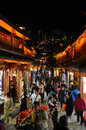 Old town of Lijiang by night Royalty Free Stock Photo