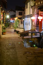 Old town of Lijiang by night Stock Image