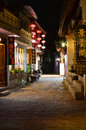 Old town of Lijiang by night Stock Photo