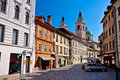 Old town of Ljubljana street and architecture Royalty Free Stock Photo