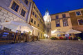 Old town of lublin at night poland Royalty Free Stock Photo
