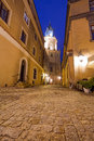 Old town of lublin at night poland Royalty Free Stock Image