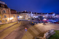 Old town of lublin at night poland Royalty Free Stock Photos