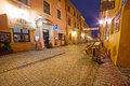 Old town of lublin at night poland july in the city center on july is the largest polish city east the vistula Stock Photography