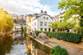 The old town of Luxembourg city Royalty Free Stock Photo
