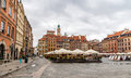 Old town market place warsaw poland Stock Images