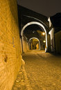 Old town mysterious alley Royalty Free Stock Photos