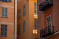 Old town nice early morning in vieux cote d azur france Stock Image