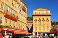 Old town of nice france july tourists visit the home major cultural and commercial landmarks Royalty Free Stock Images
