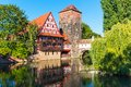 Old town in nuremberg germany scenic summer view of the architecture Royalty Free Stock Images