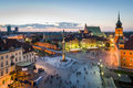 Old Town panorama of Warsaw Royalty Free Stock Image