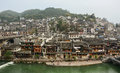 Old town of phoenix fenghuang ancient town high view the popular tourist attraction which is located in county hunan Royalty Free Stock Photography
